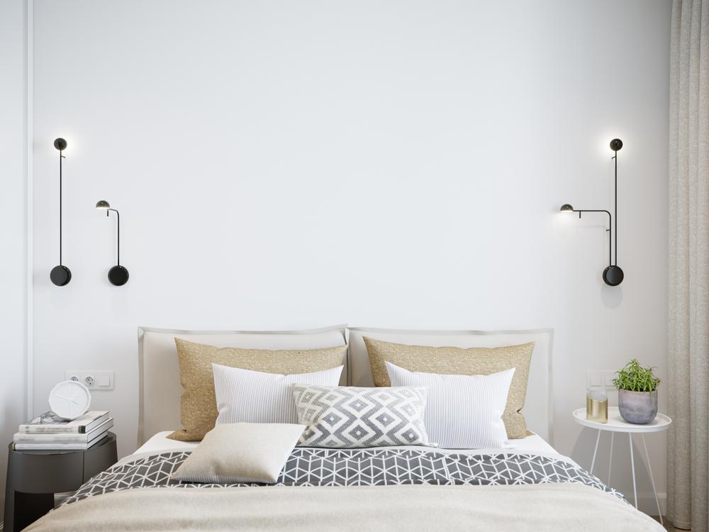 wandlampe im schlafzimmer